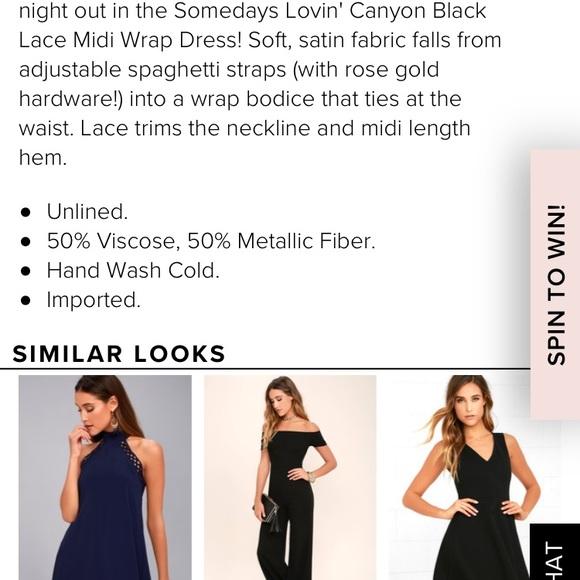 f9133366433a ... black wrap dress. NWT. Somedays Lovin. M_5a8201d4d39ca2292cdf33ec.  M_5a8201d69cc7ef3448e4a2f6. M_5a8201d872ea883543124995.  M_5a8201d99a94556ba54ccc7f